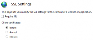 SSL Settings